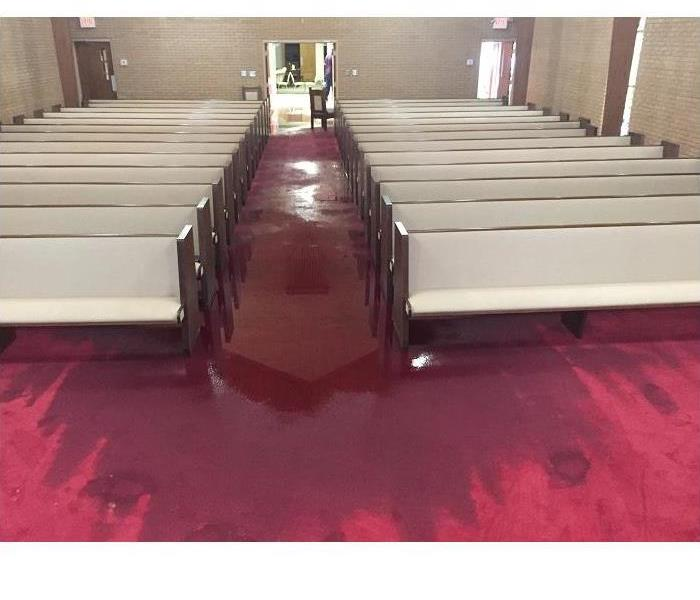 Water Damage at a Local Church Before