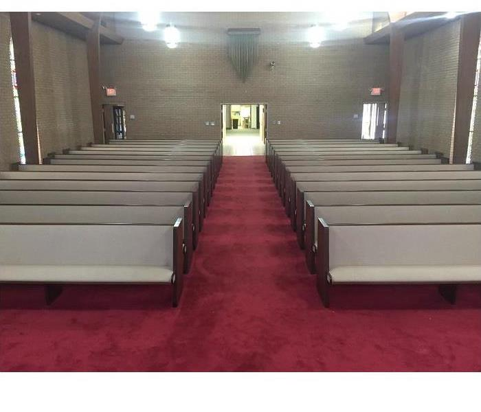 Water Damage at a Local Church After
